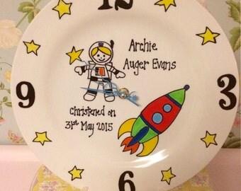 Hand Painted Personalised Sentiment Clocks