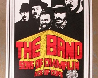 The Band Sons of Champlin San Francisco 1969 concert poster winterland 4th