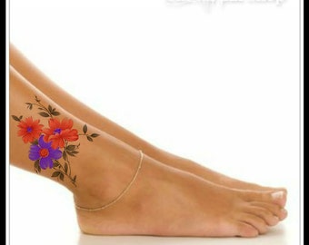 Temporary Tattoo Flower Waterproof Ultra Thin Realistic Fake Tattoos