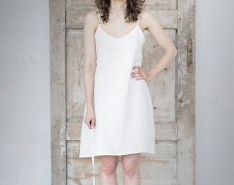 Linen Dress With Shoulder Straps | Washed Linen Dress | Women Dress | Summer Dress | Light Dress |
