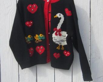 Goose Sweater Size Large (Petite)