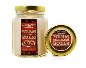 Cinnamon Rolls Scented Soy Candle - Fresh Creamy Baked Buns Scent