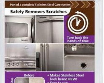REJUVENATE Stainless Steel SCRATCH ERASER Kit Easy to use kit includes everything you need Quickly removes scratches rust etc 3B3D A E