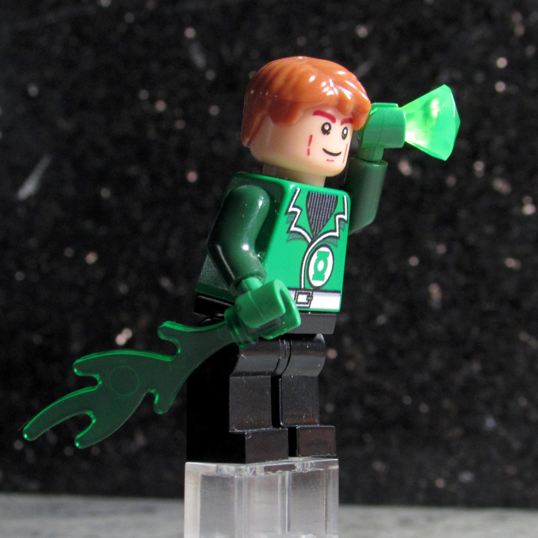 New Custom GREEN LANTERN Lego size Guy Gardner Minifigure