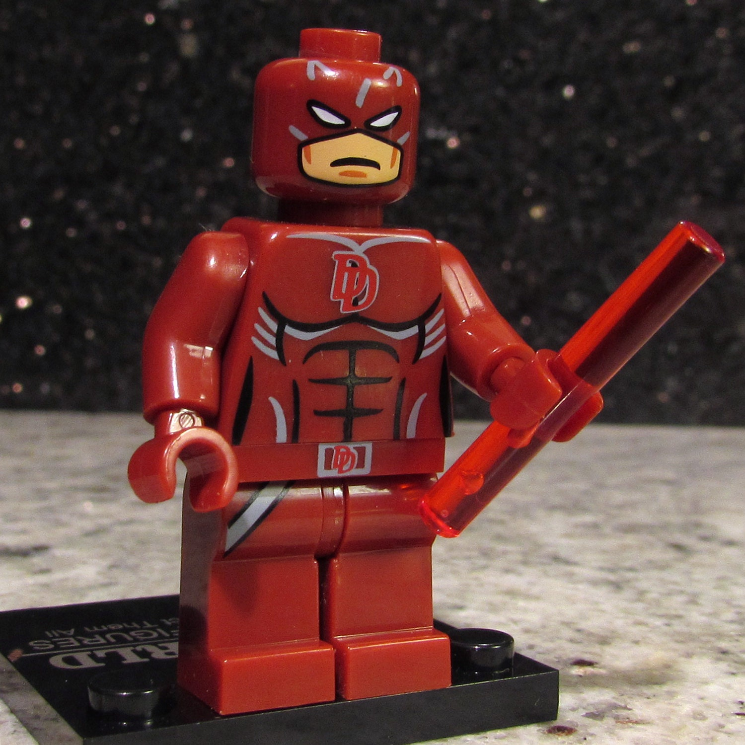 New Custom Daredevil Lego Size Minifigure Matt Murdock With
