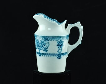 "Antique Furnivals Ltd ""Cluny"" Pattern Blue and White Transferware Creamer"