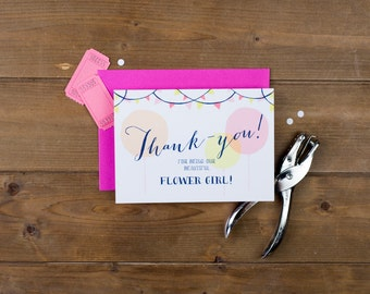 Flower Girl Thank-you Card