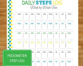 Daily Steps Log - Pedometer Step Tracker - Exercise Daily Step Record - Pedometer Tracker - Health Exercise Fitness