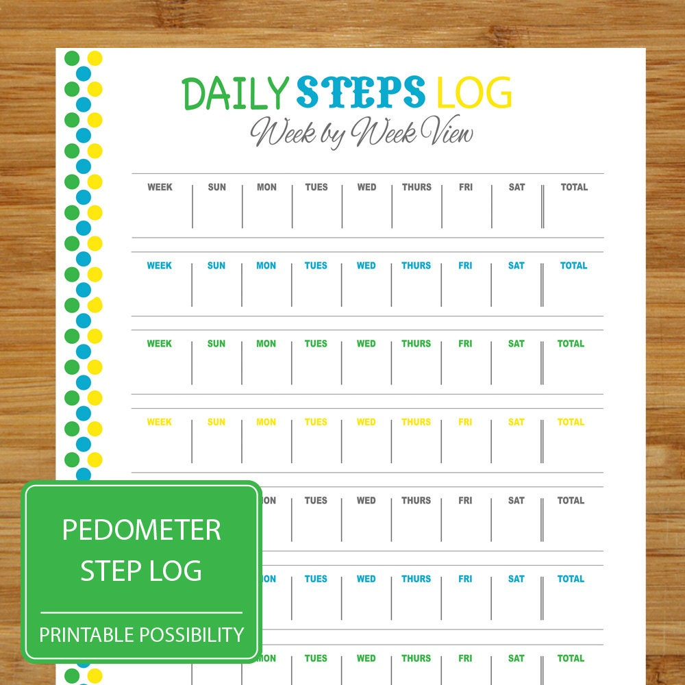 daily steps log pedometer step tracker exercise daily step