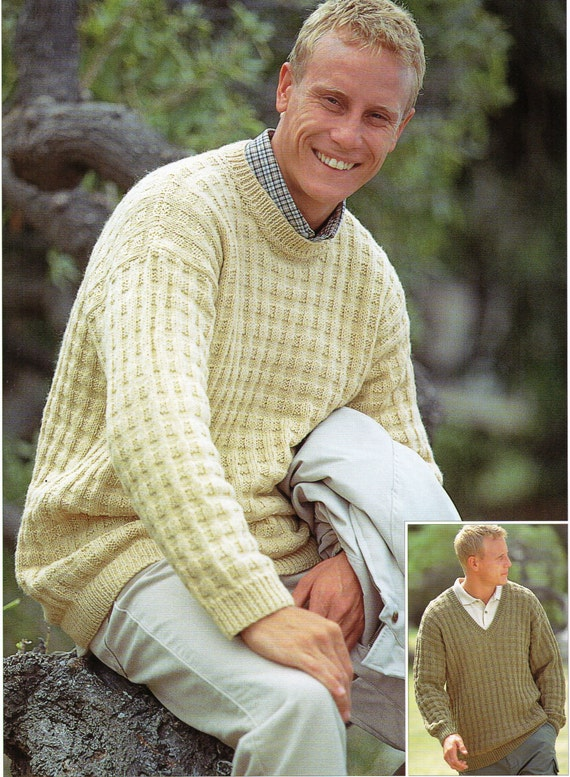 Mens Knitting pattern Mens Sweaters Mens Jumpers by Hobohooks