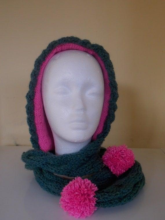 Hood scarf combo / Hat scarf by CelticKnitwear on Etsy