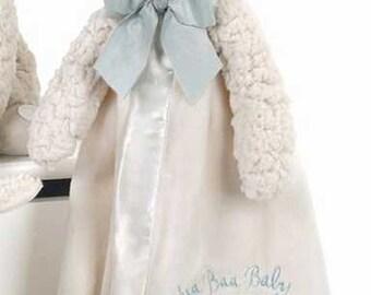 Personalized Baby Security Blanket Lamby Snuggler Lovie Boy Baby Gift Baby Girl Gift Plush Stuffed Animal with Blanket