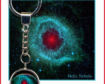 Helix Nebula Keyring with small descriptive Gift card
