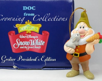 Grolier Doc President's Edition Ornament Disney Scholastic Snow White and the Seven Dwarfs 7 Princess & Seven