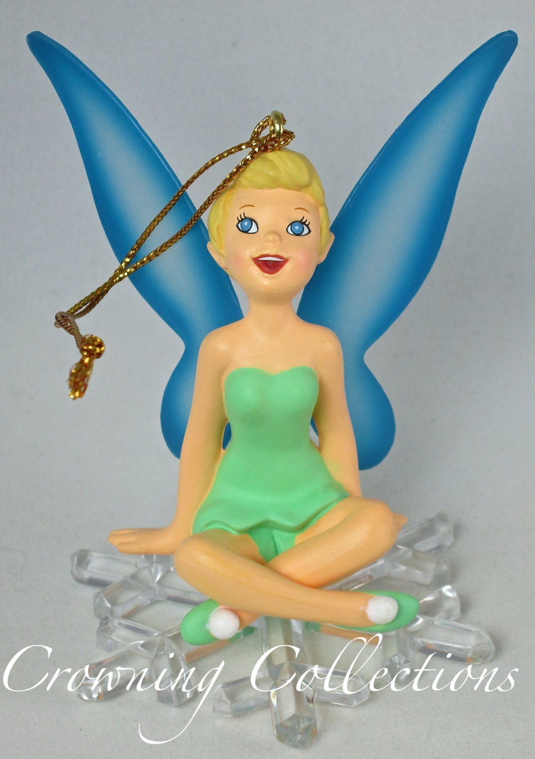 Disney grolier tinker bell ornament on by crowningcollections