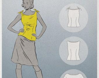 Maison Fleur 1301 Summer Blouse PDF Pattern