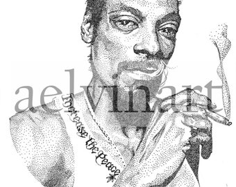 Snoop Dogg - Open Edition Giclee Print by aelvinart