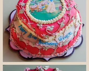 Princess birthday cakes,Snow White birthday cake,2 tiered cakes,buttercream cake,birthday cake , tiered cake,bridal baby shower wedding cake