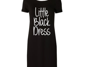 Ladies 'Little Black Dress' T-Shirt dress