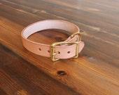Classic Leather Dog collar