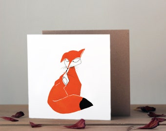 Mothers day card   Cute foxes   Greetings Card