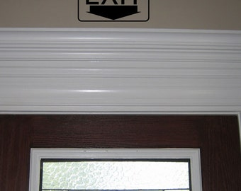 Exit Decal For Above Door - Home Decor - Gift Idea - Exit SIgn