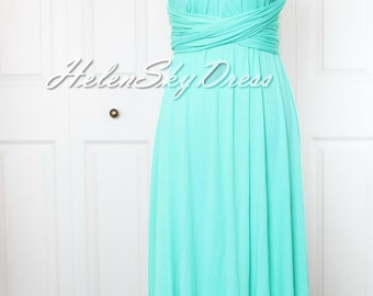 Convertible Dress / infinity dress/ bridesmaids dress in mint green