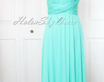 Convertible Dress / infinity dress/ bridesmaids dress in mint green