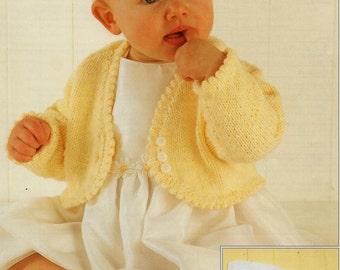 Baby Knitting Pattern Girls Knitting Pattern bolero baby bolero girls bolero 16-26 inches DK Baby Knitting Patterns PDF Instant Download