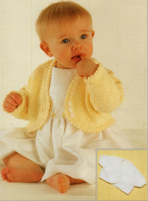 Knitting Patterns For Babies To Download : Baby Knitting Pattern Girls Knitting Pattern bolero baby