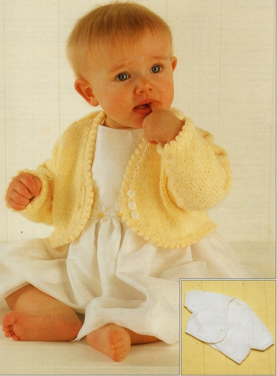 Free Knitting Patterns For Babies Nz Only : Baby Knitting Pattern Girls Knitting Pattern bolero baby