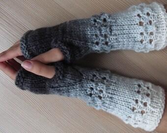 EXPRESS SHIPPING! fingerless gloves, knit fingerless gloves, women gift, gift for her, christmas gift, gift for christmas /// Formalhouse