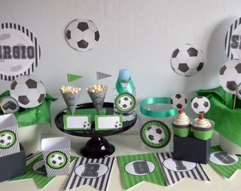 football decoration party, football printable party, party decoration, candy bar