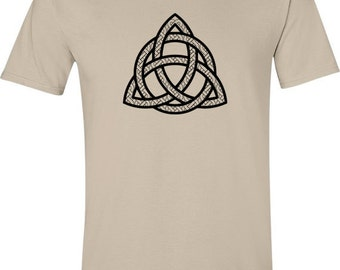 Mans Celtic T-shirt - hipster tshirt, celtic symbol, trinity knot, love tshirt, unusual gifts, pagan clothing, gift ideas men, graphic tee