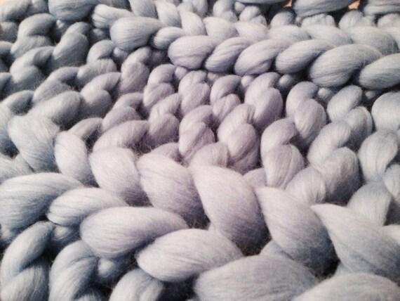Super Chunky Baby Blanket 18x18 Inches 45x45 Cm Merino Baby