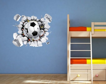 Football Wall Decal Soccer Wall Art Sticker Mural Decal Graphic Boys Bedroom  Transfer Wall Stickers WSD77 Part 65