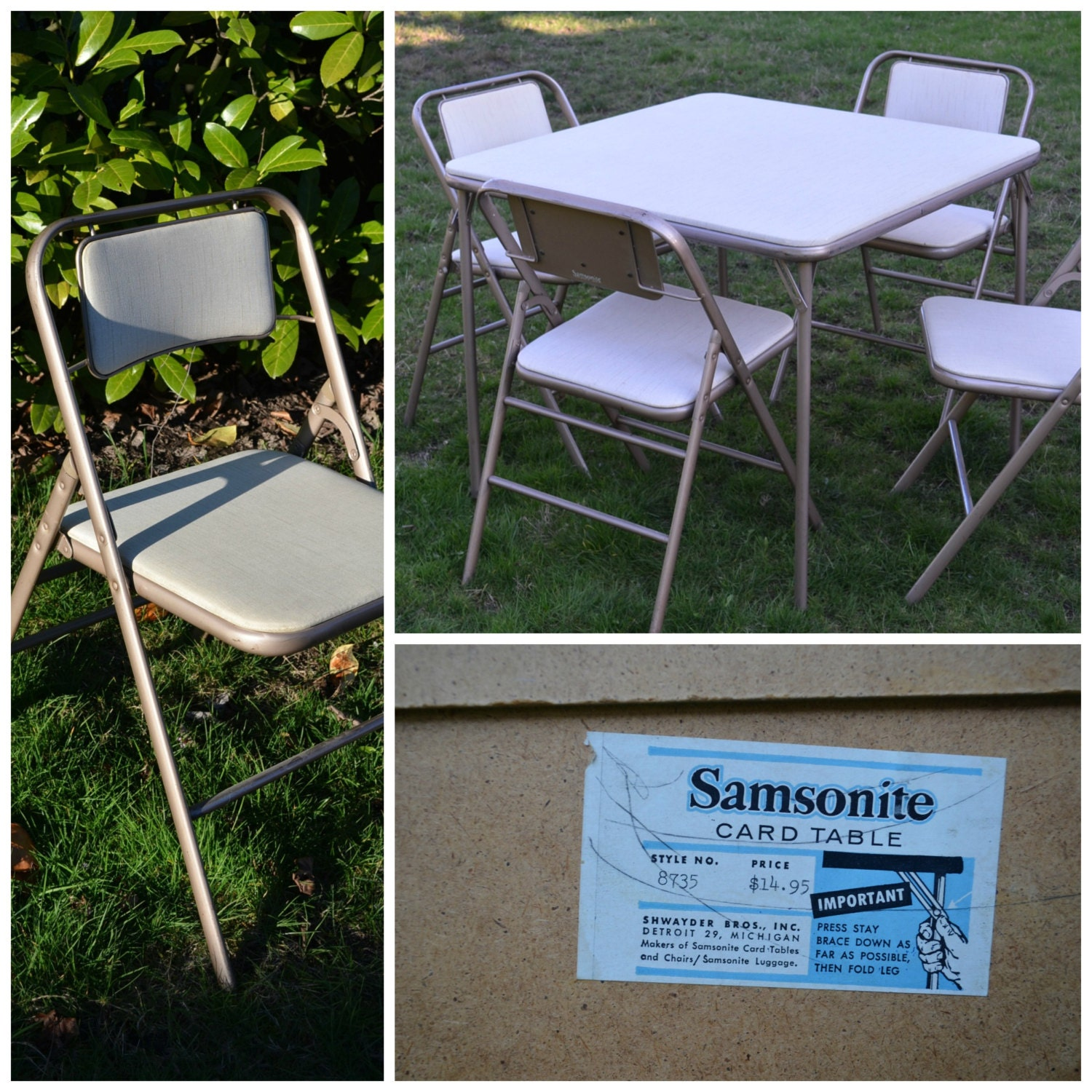Vintage Samsonite Card Table And Chairs Samsonite By