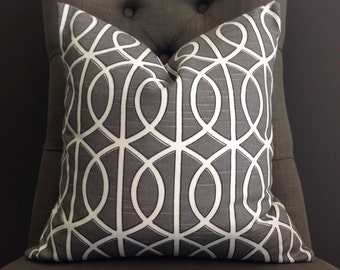 Pillow Cover, Gray Pillow Cover, TWIST