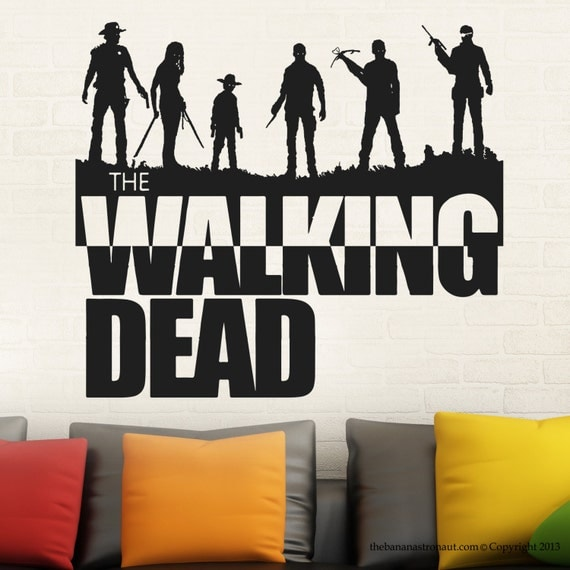 Walking dead wall decal sticker decor sticker by for Mural walking dead
