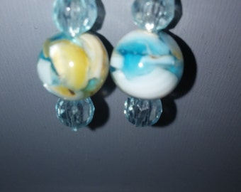 multi-color Mother of pearl earrings