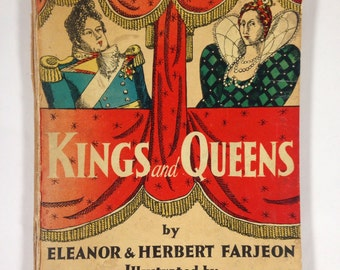 Kings and Queens Illustrated Book by Eleanor and Herbert Farjeon