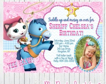 Sheriff Callie Birthday Party Photo Invitation, Sheriff Callie's Wild West Party Invite, Invites, Digital Party Invitations, Printable