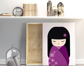 Nursery print, Little Geisha, nursery decor, nursery art print, kids wall art, instant download, baby nursery art, kids art, kids room decor