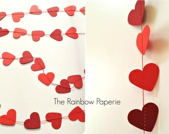 Red Heart Paper Garland, Backdrop