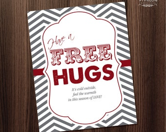 Printable Poster - Have A Free Hugs