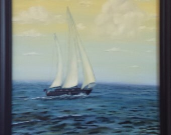 Sailboat - Daylight (Part of the Sailboat Trio Collection) by Alexander Lazaroff