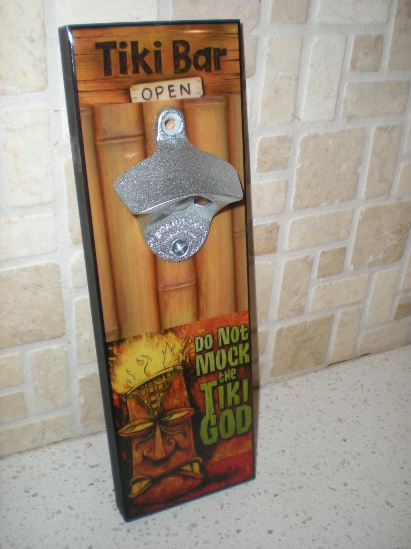 Tiki bar opener decor wall mount by