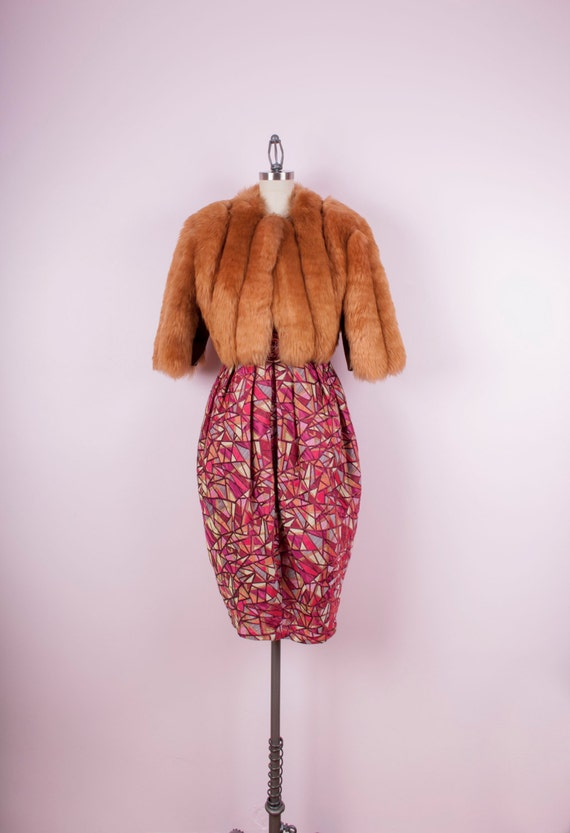 Rusty Brown Fluffy Cropped Fur Jacket by SilkStoneBoutique ...