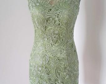 2015 Sheath Lace Short Bridesmaid Dress