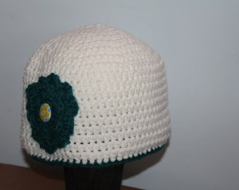 Sunday hat with a flower